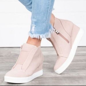 COMING SOON! New, blush pink wedge sneakers!